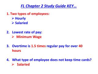 FL Chapter 2 Study Guide KEY…