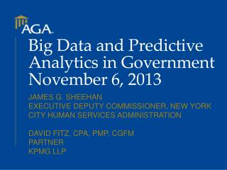 Big Data and Predictive  Analytics in  Government  November  6, 2013