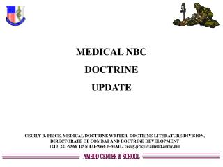 MEDICAL NBC DOCTRINE UPDATE