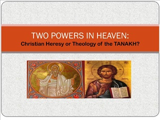 TWO POWERS IN HEAVEN: Christian Heresy or Theology of the TANAKH