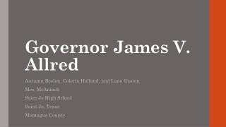Governor James V. Allred