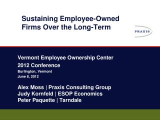 Sustaining Employee-Owned Firms Over the Long-Term