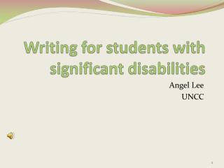 Writing for students with significant disabilities