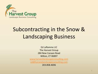 Subcontracting in the Snow & Landscaping Business