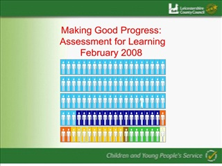 Making Good Progress:  Assessment for Learning February 2008