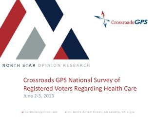 Crossroads GPS National Survey of Registered Voters Regarding Health Care