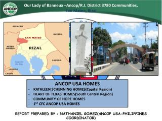 Our Lady of  Banneux  – Ancop /R.I. District 3780 Communities,  San Mateo, Rizal