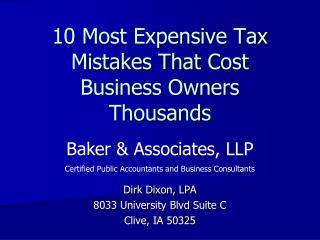 10 Most Expensive Tax Mistakes That Cost Business Owners Thousands