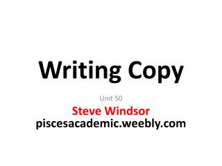 Writing Copy
