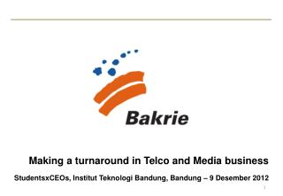Making a turnaround in Telco and Media business