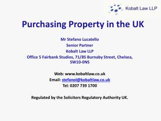 Purchasing Property in the UK