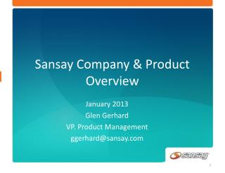 Sansay Company & Product Overview