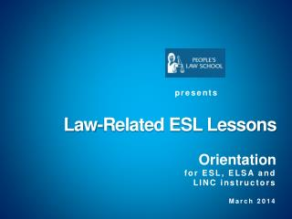 Law-Related ESL Lessons