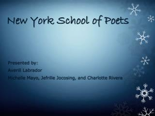 New York School of Poets