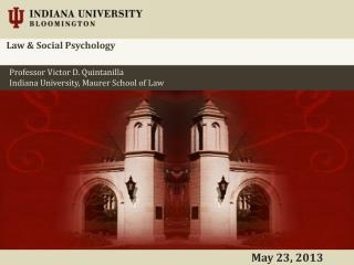 Law & Social Psychology