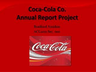 Coca-Cola Co. Annual Report Project