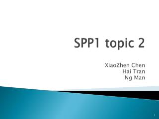 SPP1 topic 2