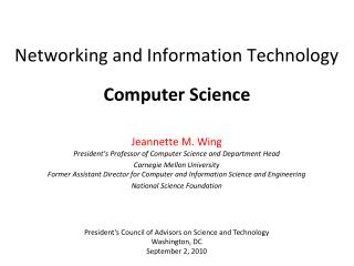 Networking and Information Technology