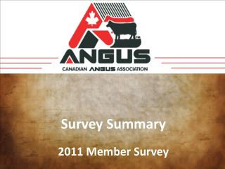 Survey Summary 2011 Member Survey