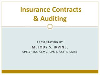 Insurance Contracts & Auditing
