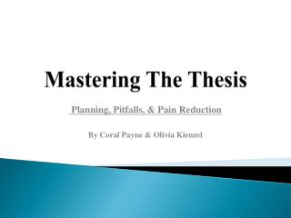 Mastering The Thesis