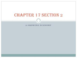 CHAPTER 17 SECTION  2