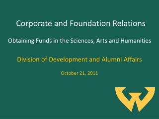 Corporate and Foundation Relations