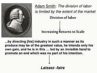 Division of labor Increasing Returns to Scale