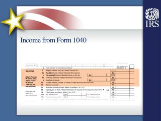 Income from Form 1040