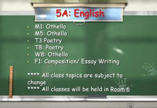 5A: English
