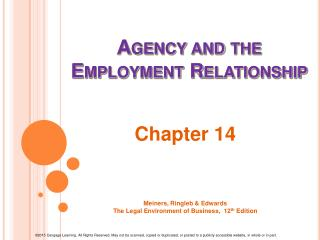 Agency and the Employment Relationship
