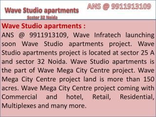 Wave Residential Apartments Flats Noida @9971495543