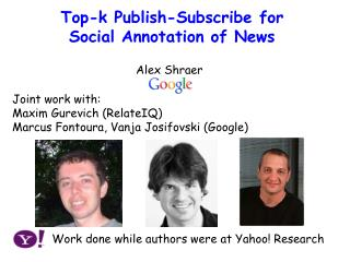 Publish-Subscribe  Approach to Social Annotation of  News