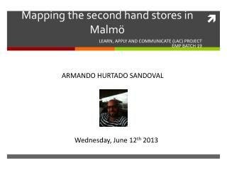 Mapping the second hand stores in Malmö