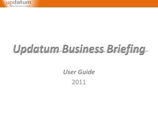 User Guide 2011
