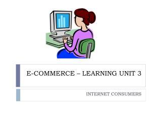 E-COMMERCE – LEARNING UNIT 3