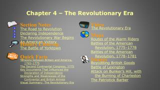 Chapter 4 – The Revolutionary Era