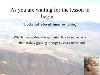As you are waiting for the lesson to begin…