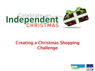 Creating a Christmas Shopping Challenge