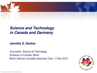 Science and Technology  in Canada and Germany