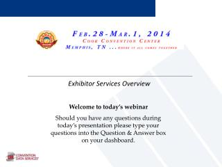 Exhibitor Services Overview