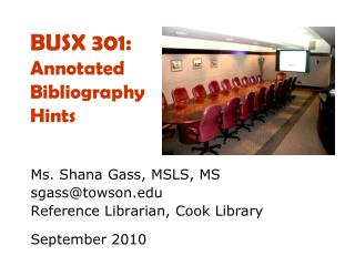 BUSX 301:  Annotated Bibliography Hints