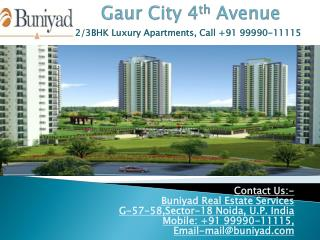 Gaur City 1 4th Avenue offers you a home within a fully deve