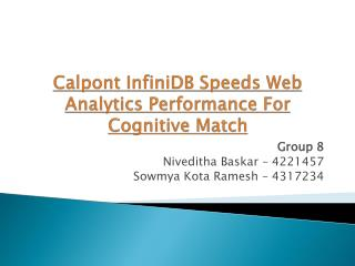Calpont  InfiniDB Speeds Web Analytics  Performance  For Cognitive Match