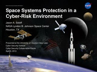 Space Systems Protection in a Cyber-Risk Environment