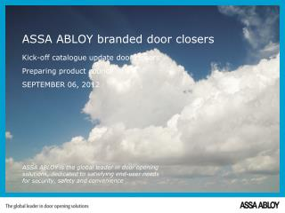 ASSA ABLOY branded door closers