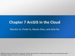 Chapter 7  ArcGIS  in the Cloud