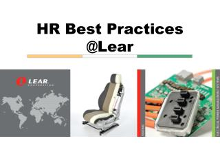 HR Best Practices @Lear