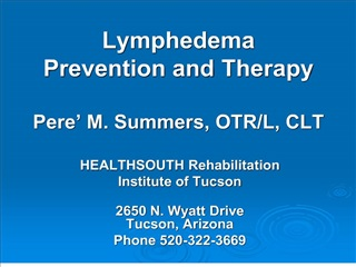 Lymphedema Prevention and Therapy Pere