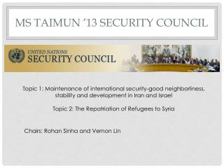 Ms taimun  '13 security council